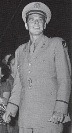 pre-President Ronald Reagan in uniform, 1941
