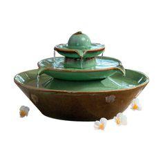 fontaine pisa cramique verte seliger acheter sur greenweezcom