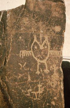 Spedis owl, petroglyph, The Dalles,