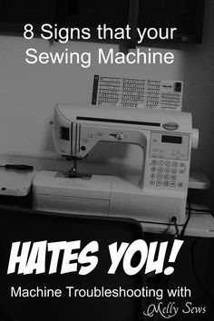How to fix sewing machine problems - or figure out if your sewing machine hates you - Melly Sews - You must scroll all the way down and read the last one, ha!