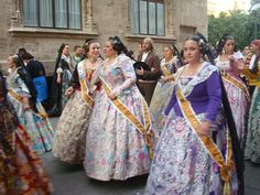 Falleras in Valencia!  You'v got love their costumes!