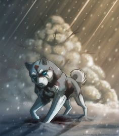 GNG fanart Little art for relaxing and enjoying It was a lonf time ago I draw Ginga Legend fanart x-x So, I was touched by this scene Akame (the white one) was so confused. He seen Kurojaki - his e...