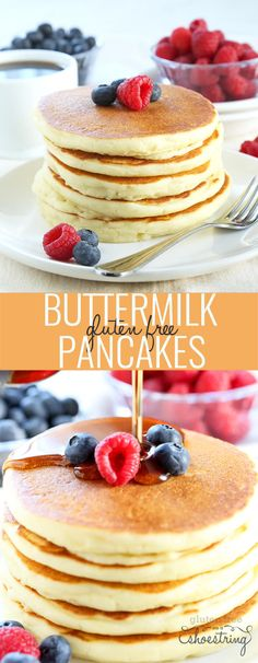 Perfect Gluten Free Buttermilk Pancakes