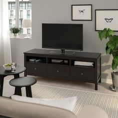 """HEMNES TV unit, black-brown, 58 1/4x18 1/2x22 1/2"""" - IKEA"""