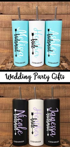 Personalized Tumbler with Straw, Bridesmaid Tumbler, Bridesmaid Gift, Insulated . Wedding Gifts For Bridesmaids, Personalized Bridesmaid Gifts, Personalized Tumblers, Wedding Party Favors, Gifts For Wedding Party, Party Gifts, Wedding Centerpieces, Wedding Ideas, Trendy Wedding