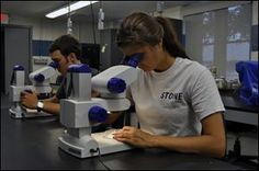 Students study freshwater biology at Stone Lab on Gibraltar Island in Lake Erie, Ohio.