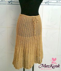 Convertible Dress / Skirt - free crochet pattern (size L) by Maz Kwok. Full S to 3XL pattern to purchase.