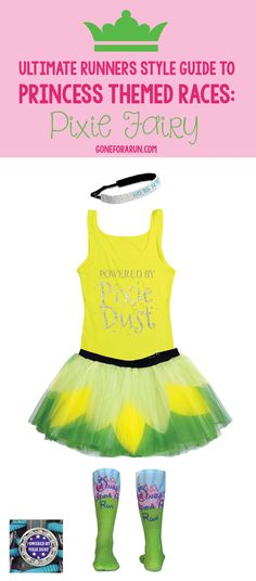 Add sparkle and style to a race with our pixie dust running costume that will have runners taking off and sprinting like they are powered by pixie dust. Disney 5k, Disney Races, Disney Trips, Disney Running, Run Disney Costumes, Running Costumes, Disney Outfits, Cool Costumes, Disney Princess Half Marathon