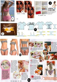 A swimsuit that fits? Sewing Tutorials, Sewing Crafts, Sewing Projects, Sewing Patterns, Diy Clothing, Sewing Clothes, Beachwear Fashion, Kinds Of Clothes, Cycling Outfit