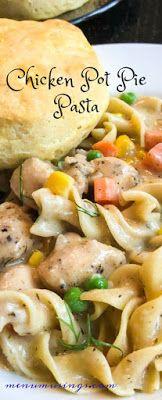 Chicken Pot PIe Pasta_ #30minutemeal #budget #kidfriendly #chickenrecipes #pasta #potpie