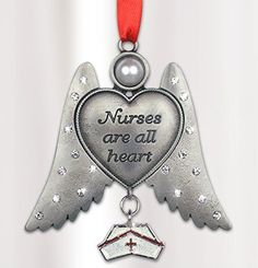Nurse Angel - Nurses are all Heart Angel Ornament - Hanging Nurse Angel with Nurse Hat Charm - Nurses Day Gift - Nurse Graduation Gift - Nurse Appreciation, http://www.amazon.com/dp/B00M0ZNB3G/ref=cm_sw_r_pi_awdm_rctkxbN66BZYY