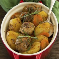 One pot cooking. This easy beef stew is nicely flavored.Serve with some fresh bread.