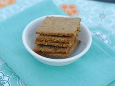Maggie Savage's Gluten Free, Nut Free, Soy Free Vegan Savoury Rosemary Crackers - These gluten free vegan crackers from Maggie Savage are some of the best GF crackers I have tasted. Super easy and delicious!