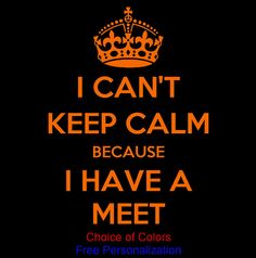 I Cant Keep Calm because I Have A Meet Swim Shirt  by PlanBonEtsy, $12.00