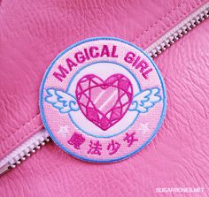 ♥+Official+Magical+Girl+♥    ♥+3x3+inches  ♥+Iron+on+-+Super+easy+to+apply,+but+some+sewing+is+recommended+if+you'll+be+washing+the+item+a+lot.+  ♥+Made+for+any+type+of+apparel-+jackets,+vests,+even+t-shirts,+the+customization+is+up+to+you!