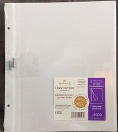 Hallmark Photo Album Large Post Bound Refill Self Adhesive 8 Pages AR6555  | eBay