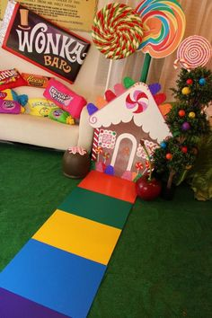 Willy Wonka's Candyland Wonderland Themed Party-Willy Wonka's Candyland Wonderland Themed Party with So Many Cute Ideas via Kara's Party Ideas.