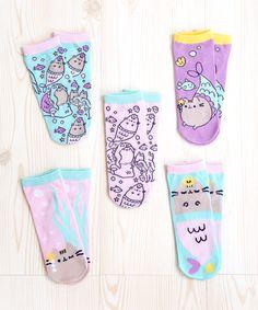 Mermaid Pusheen 5-pack ankle socks