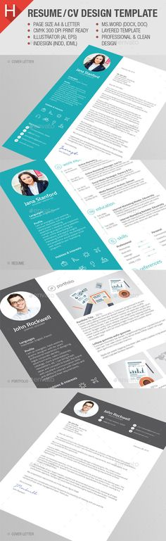 MaDe - Material Design Resume \/ CV Template Design resume - downloadable resume layouts