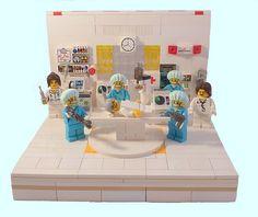 Dad's Get Well Card 2012 by MinifigNick Legos, Lego Hospital, Lego Letters, Project Mc, Lego Minifigure Display, Amazing Lego Creations, Lego Modular, Lego Photography, Lego Design
