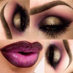 Wine violet in brow