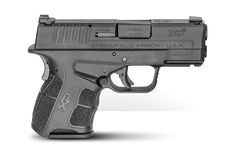 XD-S ACP The latest edition of Springfield's most popular pistol is engineered in a slim, single stack frame, holding 6 rounds of ACP in a premier concealed carry firearm. Home Defense, Self Defense, Xds 9mm, Best Handguns, Striker Fired, 9mm Rounds, Springfield Armory, 45 Acp, Black Singles