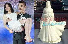 "Chen Xiao proposed to Michelle Chen using a figurine of her character from ""The Condor Heroes""."