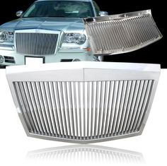 05-10 Chrysler 300 / 300C Rolls-Royce Style ABS Silver Vertical Grill - Chrome