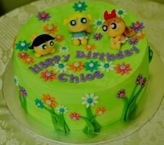 Power Puff Girls cake. Czarina wants a PPG party for her 6th birthday.