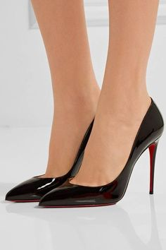 Christian Louboutin - Pigalle Follies 100 Patent-leather Pumps - Black - IT