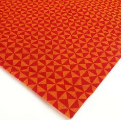 Buy Orange Check Pattern Hand Block Printed Hand Loom Fabric - Printed – DesiCrafts