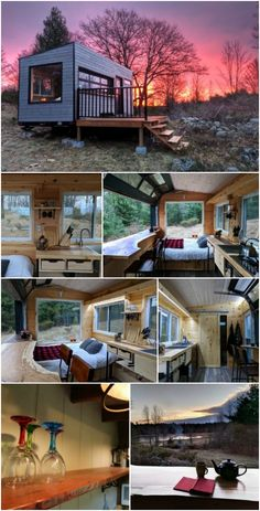 Make Your Great Escape in the Mason Cabin in Mountain Grove, Ontario - Last year, I shared the Auburn Cabin with you. Located at Sharbot Lake, Ontario, the Auburn Cabin is a tiny house resort f Best Tiny House, Modern Tiny House, Tiny House Cabin, Tiny House Plans, Tiny House Design, Tiny Houses, Tiny House On Trailer, Off Grid Tiny House, Building A Tiny House