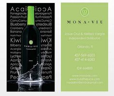 Mona Vie - Green Themed Business Cards - Graphic Design