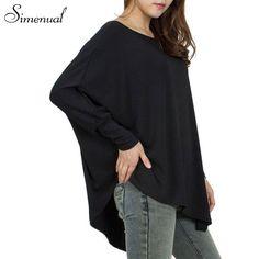 Oversize loose t-shirts for women 2016 autumn tops irregular solid big size long female t-shirt women's clothing ladies shirt