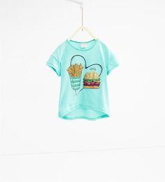 ZARA - BØRN - T-shirt med pailletter