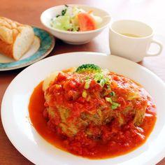 お皿にこんもり♪大きなロールキャベツ! Ethnic Recipes, Food, Eten, Meals, Diet