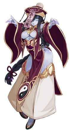 Another one of my favorites- Jiangshi monster girl. She doesn't say much, but demands a rub from time to time. Anime Sexy, Thicc Anime, Manga Girl, Anime Art Girl, Fantasy Character Design, Character Design Inspiration, Character Art, Female Characters, Anime Characters