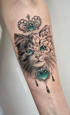 These Awesome Cat Tattoos Will Take Your Cat Obsession to The Next Level, awesome cat tattoo ideas © tattoo artist Mini Tattoos, Rose Tattoos, Sexy Tattoos, Unique Tattoos, Beautiful Tattoos, Body Art Tattoos, Small Tattoos, Sleeve Tattoos, Tattoos For Women