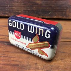 STUNNING VINTAGE 'GOLD WING' PEN NIBS ADVERTISING TIN FOUNTAIN PEN QUILL   eBay
