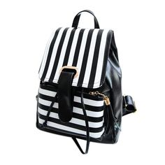 Cheap mochila couro, Buy Quality rucksack bag directly from China leather backpack Suppliers: Girls Stripe Leather Backpack Drawstring Cover School Bag Large Capacity Travel Satchel Tassels Rucksack Bag Mochila Couro Satchel Backpack, Rucksack Bag, Leather Backpack, Pu Leather, Travel Backpack, Travel Bags, Leather School Bag, Striped Backpack, Printed Bags