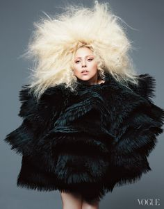 Lady Gaga wears McQueen for Vogue US September 2012