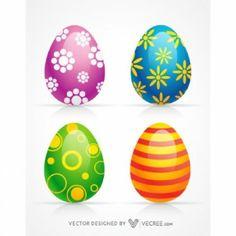 3d decoración de los huevos de Pascua felices