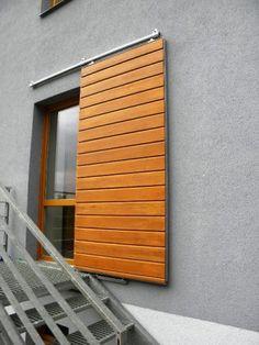 True Blu - Inside Our Vashon Island Northwest Idea House Outdoor Shutters, Window Shutters, Door Design, Exterior Design, Bahama Shutters, Philippine Houses, Weekend House, Container House Design, Exterior Remodel
