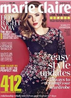 Who made Scarlett Johansson's black floral dress that she wore on the cover of Marie Claire magazine? Dress – Dolce & Gabbana