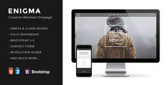 Enigma | Creative Responsive Minimal Html Template