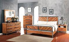 Legends Furniture ZSPK-7700 - Steampunk Collection Master Bedroom