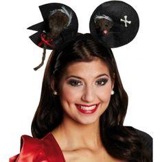 Serre-tête diadème Minnie oreilles noires avec noeud rose pois filles souris fun