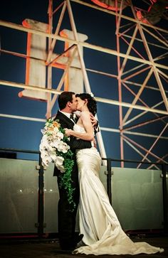 This glamorous wedding took place on the rooftop of the Hollywood Roosevelt Hotel // Thompson Hotels