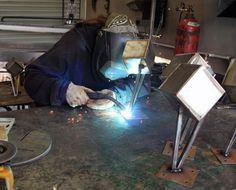 Fabricating steel trophies