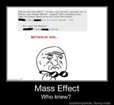 I did! Seriously, Mass Effect is rife with spiritual undertones. It is one of the reasons it is my favorite series and why I believe it is a far superior tale than most games because it is willing to go so deep. I'm a fan for life!
